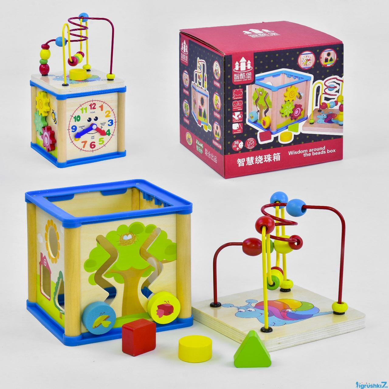 """Деревянная игра """"Логический куб"""" С 37675 (12) в коробке"""