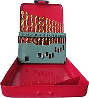 Набор сверл с титановым покрытием Fangda 13 ед, 2-8мм (металлическая коробка)