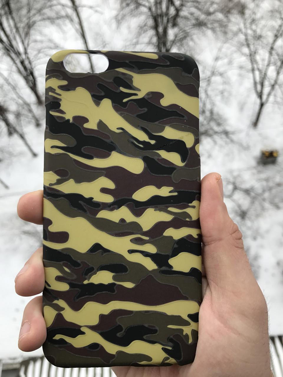 Чехол камуфляжный противоуданый iphone 6/6s plus + защитное стекло на экран в подарок