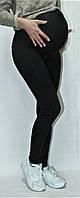 Черные лосины для беременных на флисе