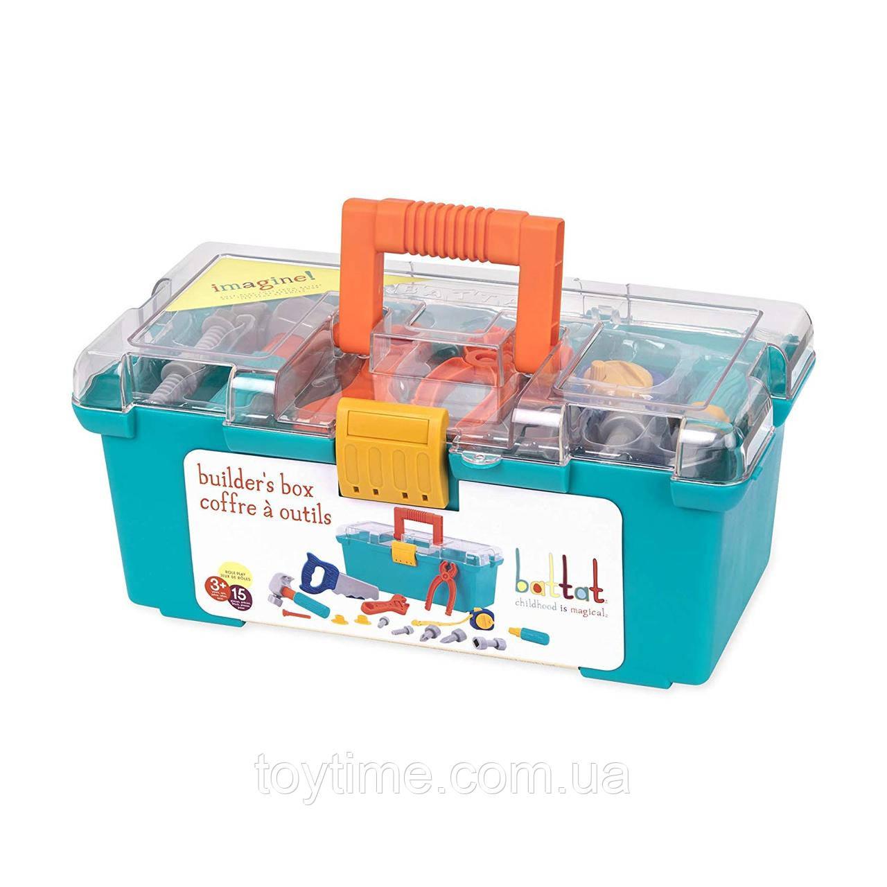 Детский набор строителя от Battat / Battat – Builder Tool Box – Durable Kids Tool Set