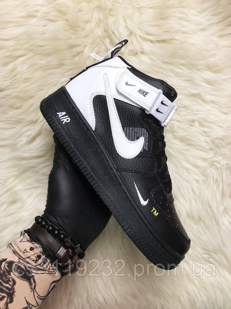 Мужские кроссовки Nike Air Force 1 High (черные)