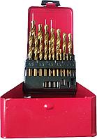 Набор сверл с титановым покрытием Fangda 19 ед, 1-10мм (металлическая коробка)