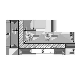 Алюминиевый уголок без покрытия, 100х40х3 мм
