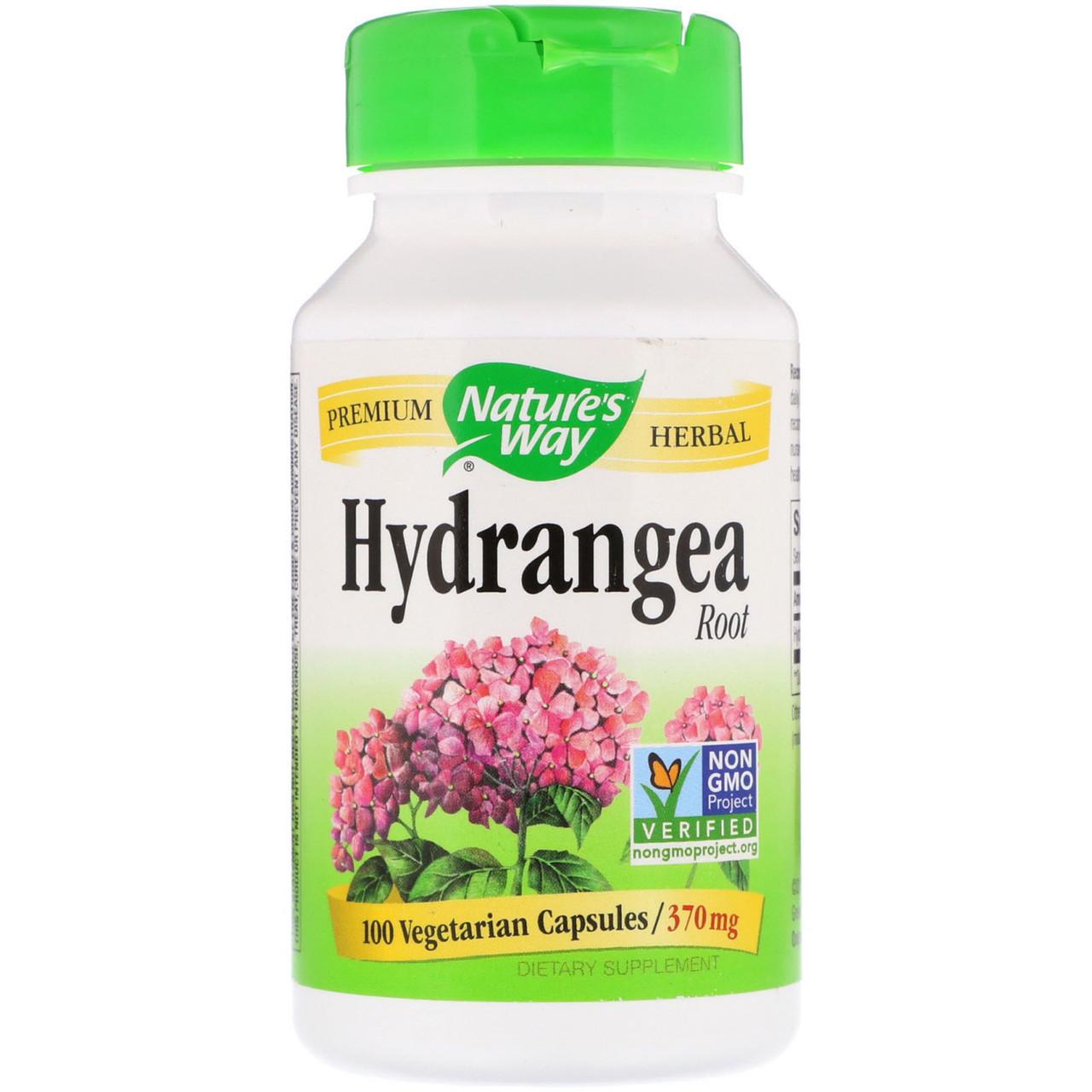 Корень гортензии, Nature's Way, 370 мг, 100 вегетарианских капсул