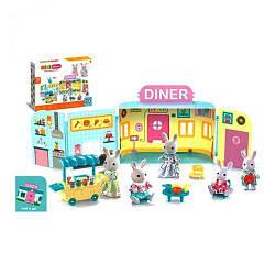Закусочная для кроликов с мебелью и аксессуарами CJ888-003/005 scs