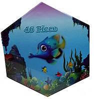 """Набор для детского творчества """"Рыбки"""" (46 предметов) шестигранный FI-46"""
