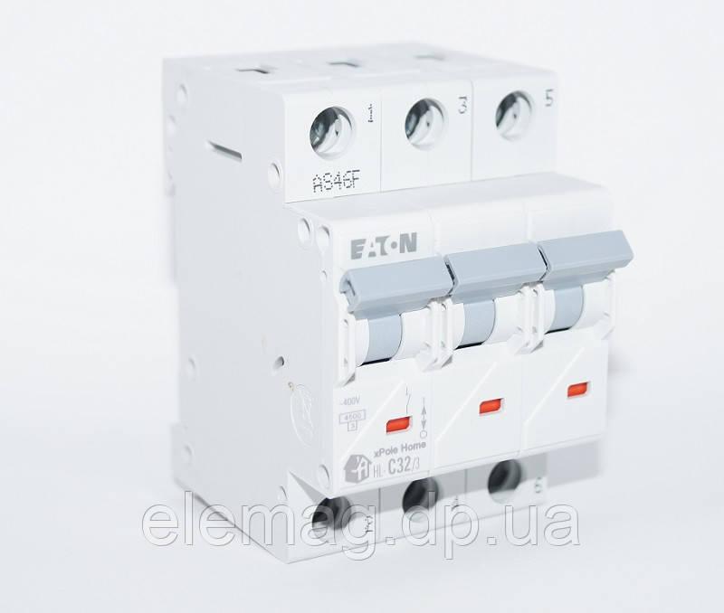 Автоматический выключатель 32 А тип C 3 полюса HL-C32/3 Eaton 194794