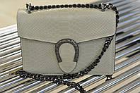 Кожаный женский клатч с тиснением 1086, фото 1