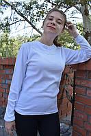 Белая блуза с кружевом интерлок 40