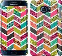 "Чехол на Samsung Galaxy S6 G920 Шеврон v3 ""1058c-80"""