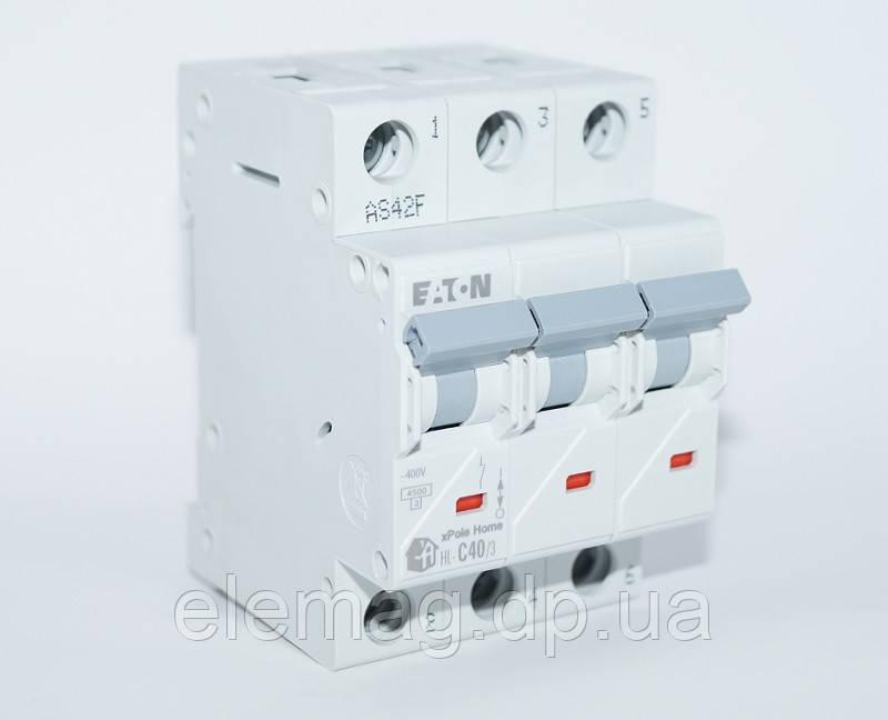 Автоматический выключатель 40 А тип C 3 полюса HL-C40/3 Eaton 194795