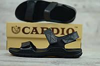 Мужские сандали в стиле Cardio, кожа, черные *** 43 (27,5 см)