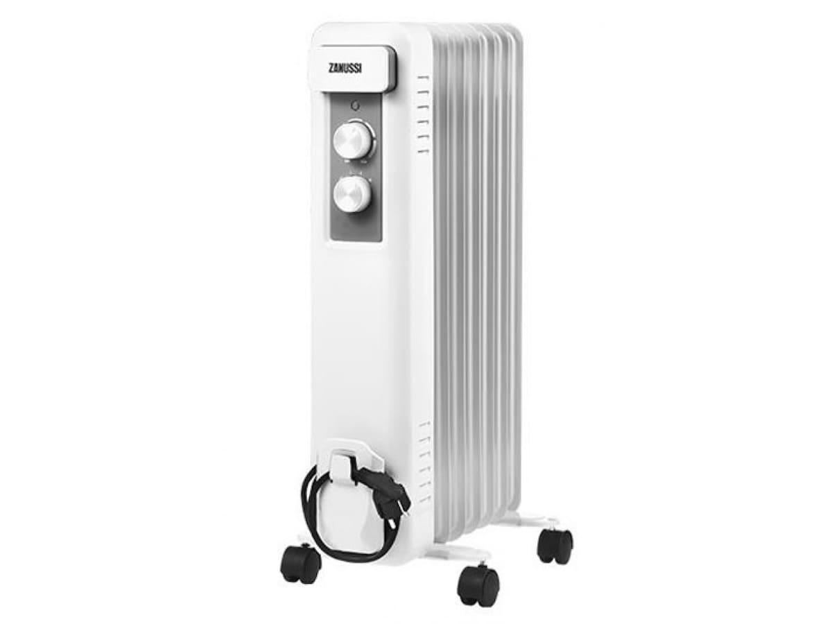 Масляний радіатор ZANUSSI CASA ZOH/CS-09W 15 Тип: масляний. Площа обслуговування: 25 м2, Монтаж: Підлоговий, з терморегулятором, Кількість секцій: 9,