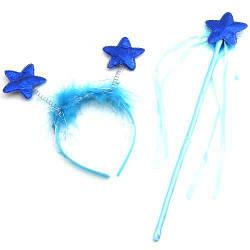 """Набор аксессуаров """"Обруч со звёздочками и волшебная палочка""""  sco"""