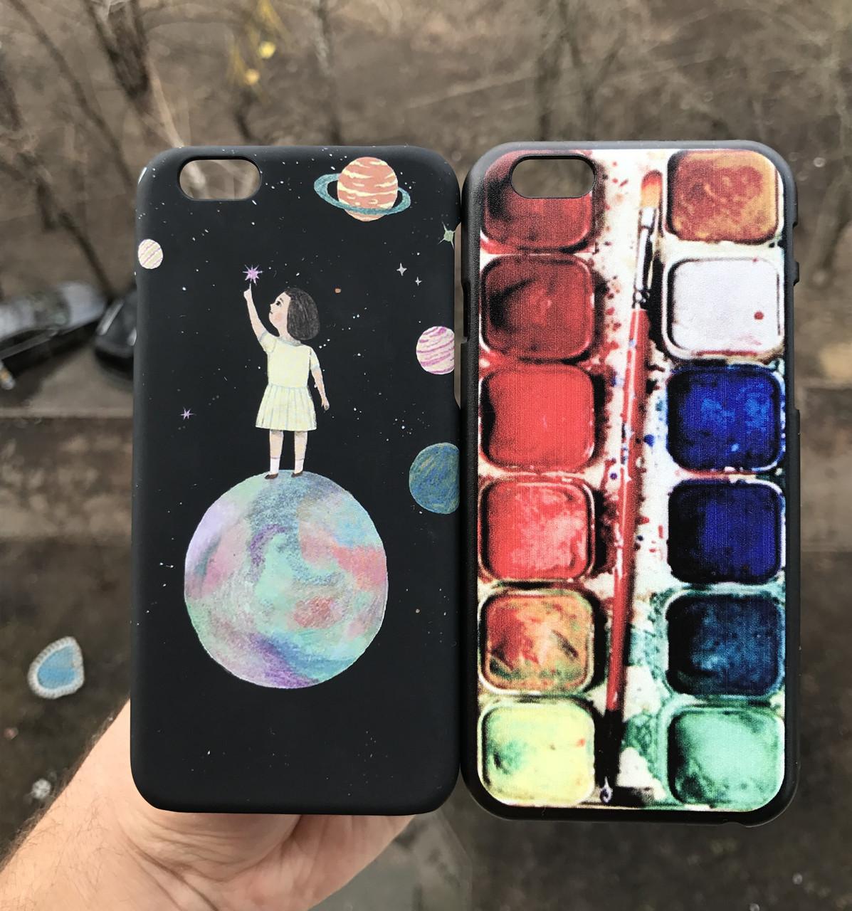 Чехол для iPhone 6\6s девочка + защитное стекло на экран в подарок