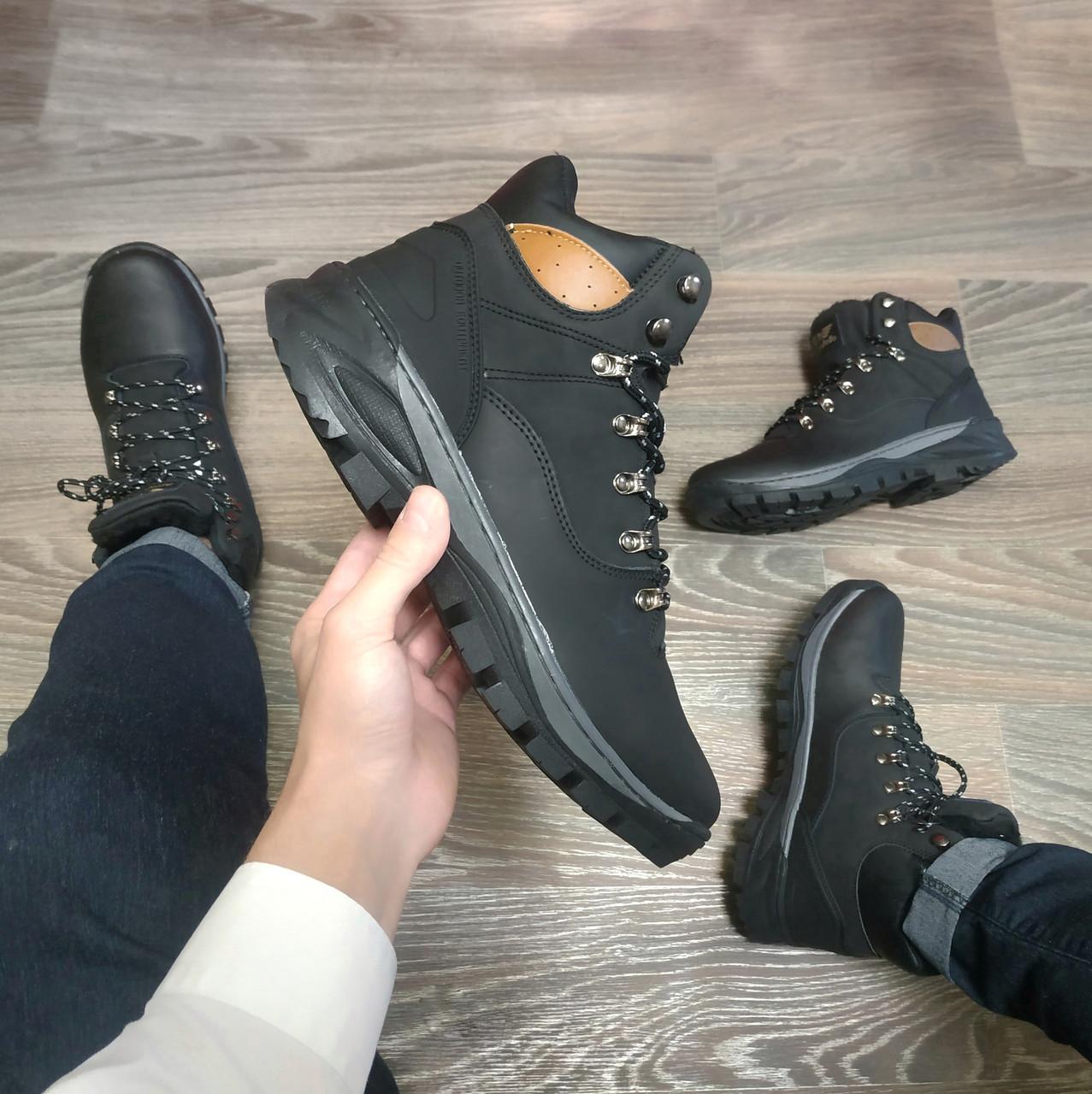 Натуральна шкіра зимові чоловічі черевики ARRIGO BELLO чорні 41р-46р високі черевики шкіряні