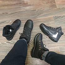 Натуральна шкіра зимові чоловічі черевики ARRIGO BELLO чорні 41р-46р високі черевики шкіряні, фото 3