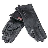 Женские кожаные перчатки на флисе