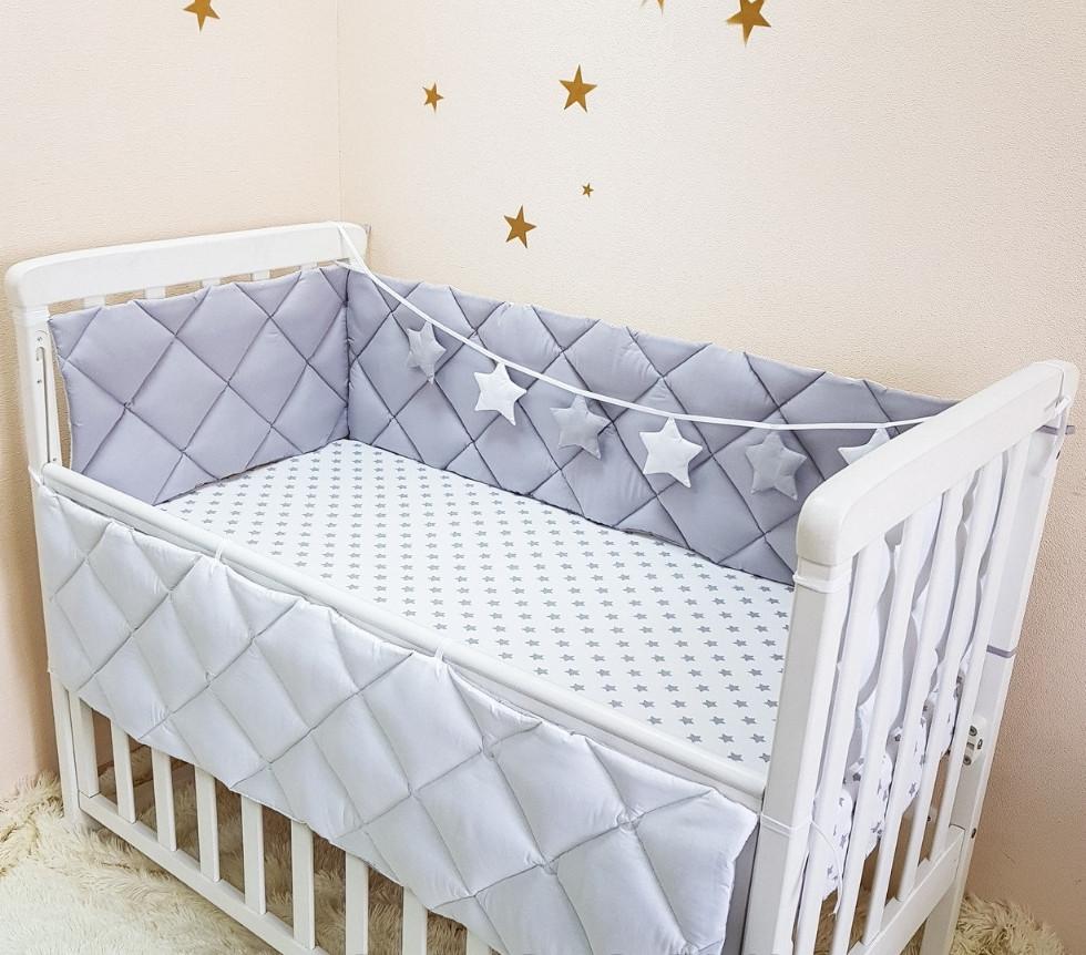 Захист, бортики в ліжечко на 4 сторони. Будь-який колір.