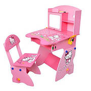 """Регулируемая детская парта растишка со стульчиком """"Hello Kitty"""" Bambi М 0324"""