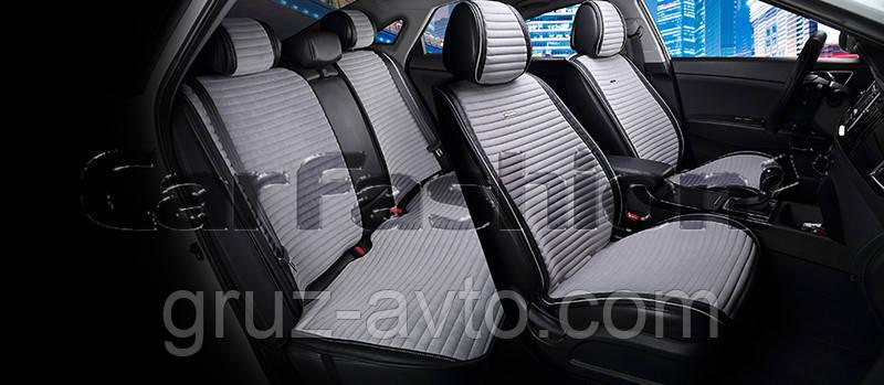 Накидки на сидения CarFashion Мoдель: MONACO PLUS  Черный-серый (21832)