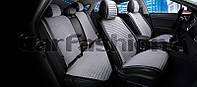 Накидки на сидения CarFashion Мoдель: MONACO PLUS  Черный-серый (21832), фото 1