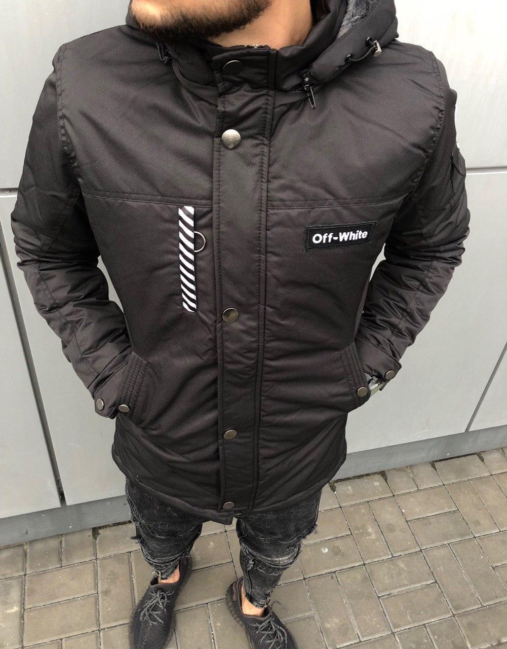 😜 Куртка - Мужскаяя осенняя куртка черного цвета Off-White