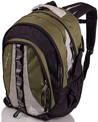 Рюкзак вместительный на каждый день 33 л. Onepolar W1002-green зеленый
