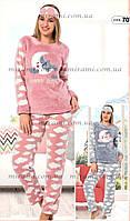 Теплая и нежная пижама флис + махра