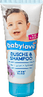 Babylove Dusche & Shampoo - детский шампунь и гель для душа с пантенолом, 200 мл.