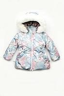 """Зимняя курточка для девочки, детская куртка """"Снежинка"""" с капюшоном (от 1,5 до 4-х лет)"""