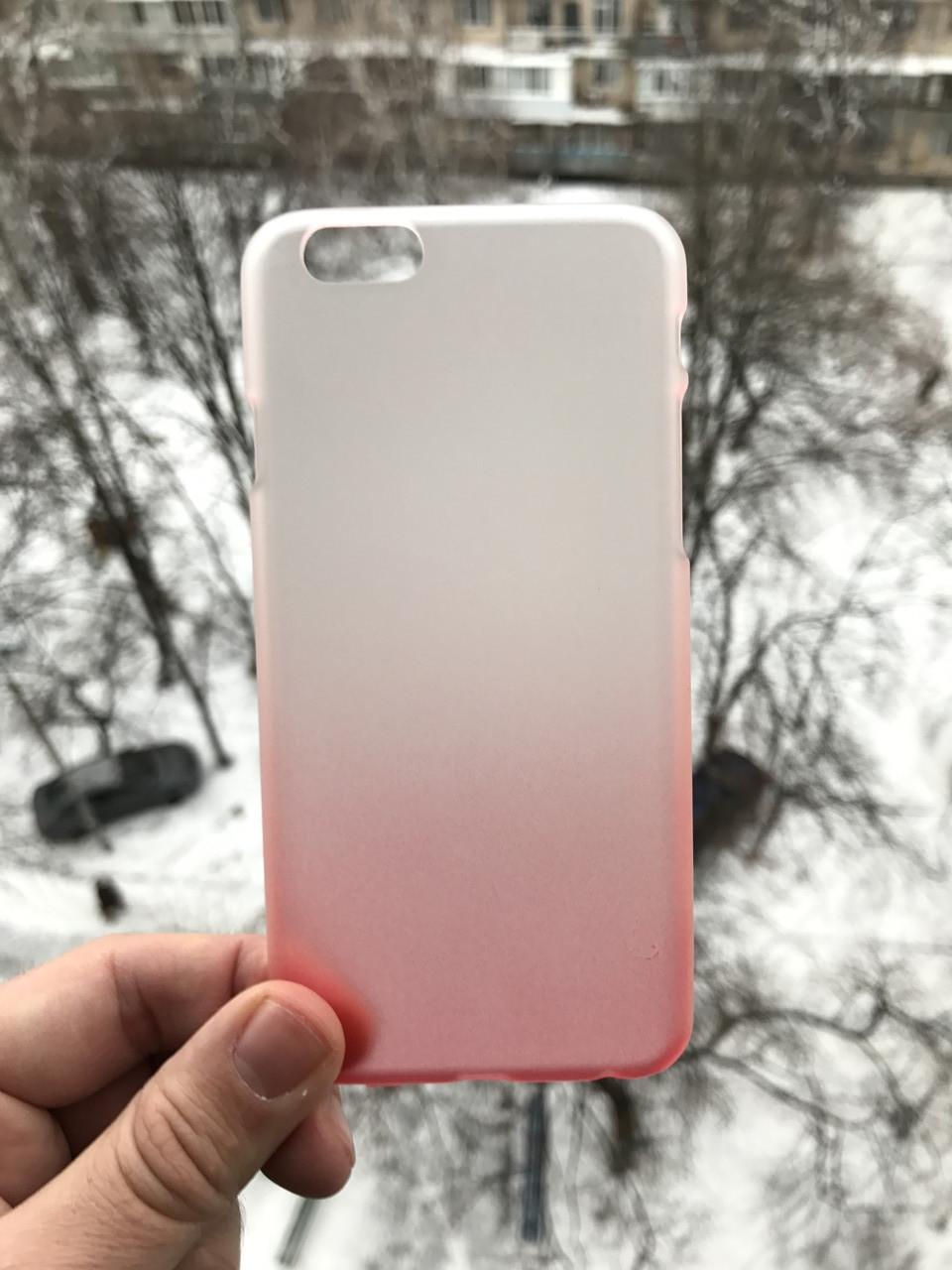 Чехол бело-красный iphone 6/6s plus + защитное стекло на экран в подарок