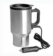 Автомобильная термокружка с подогревом от прикуривателя Car Mug 350 мл