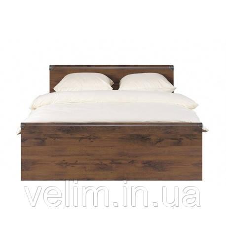 Кровать двоспальная  BRW Индиана + ламель 160х200 дуб шутер, фото 1