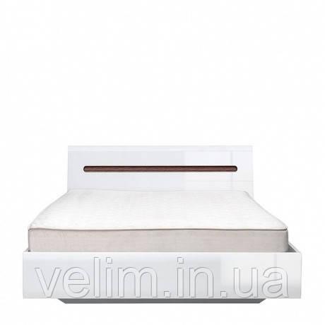 Кровать полуторная BRW Ацтека (каркас) 140х200 белый/белый глянец