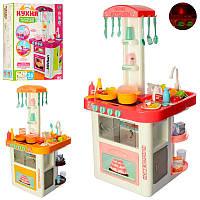 Игровой набор кухня 889-59-60 кораловая и желтая, свет, звук, вода,, фото 1