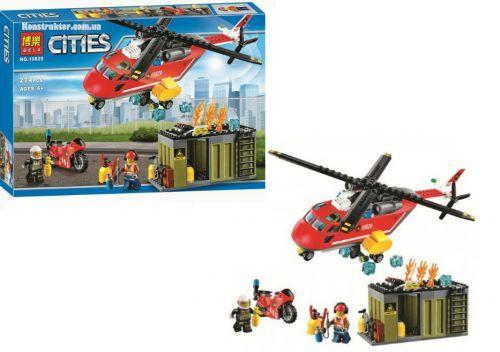 """Конструктор """"Пожарная команда быстрого реагирования""""  274 детали  scs"""