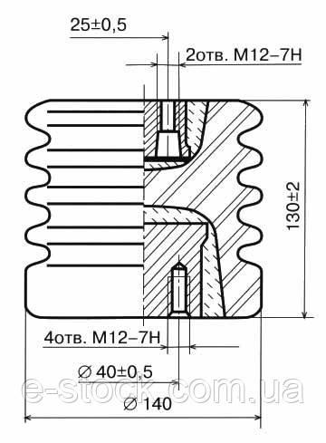Опорні ізолятори фарфорові армовані І16-80, Ізолятор І16-80 I УХЛ2, Ізолятори І16-80 I УХЛ2