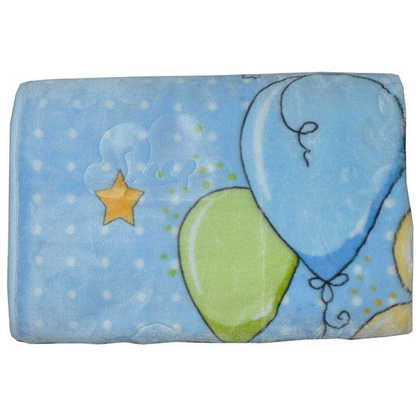 Плюшевое покрывало на махровой подкладке (мин заказ 1 ед) голубой