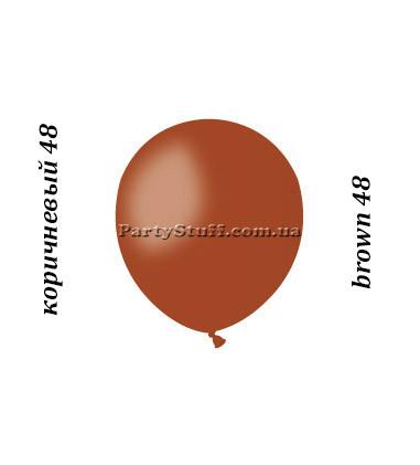 Воздушные шарики Gemar А50 пастель КОРИЧНЕВЫЙ, 5' (13 см) 100 шт