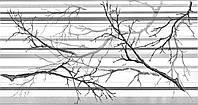 Стінові панелі ПВХ Регул Гілка сіра 975*451 мм