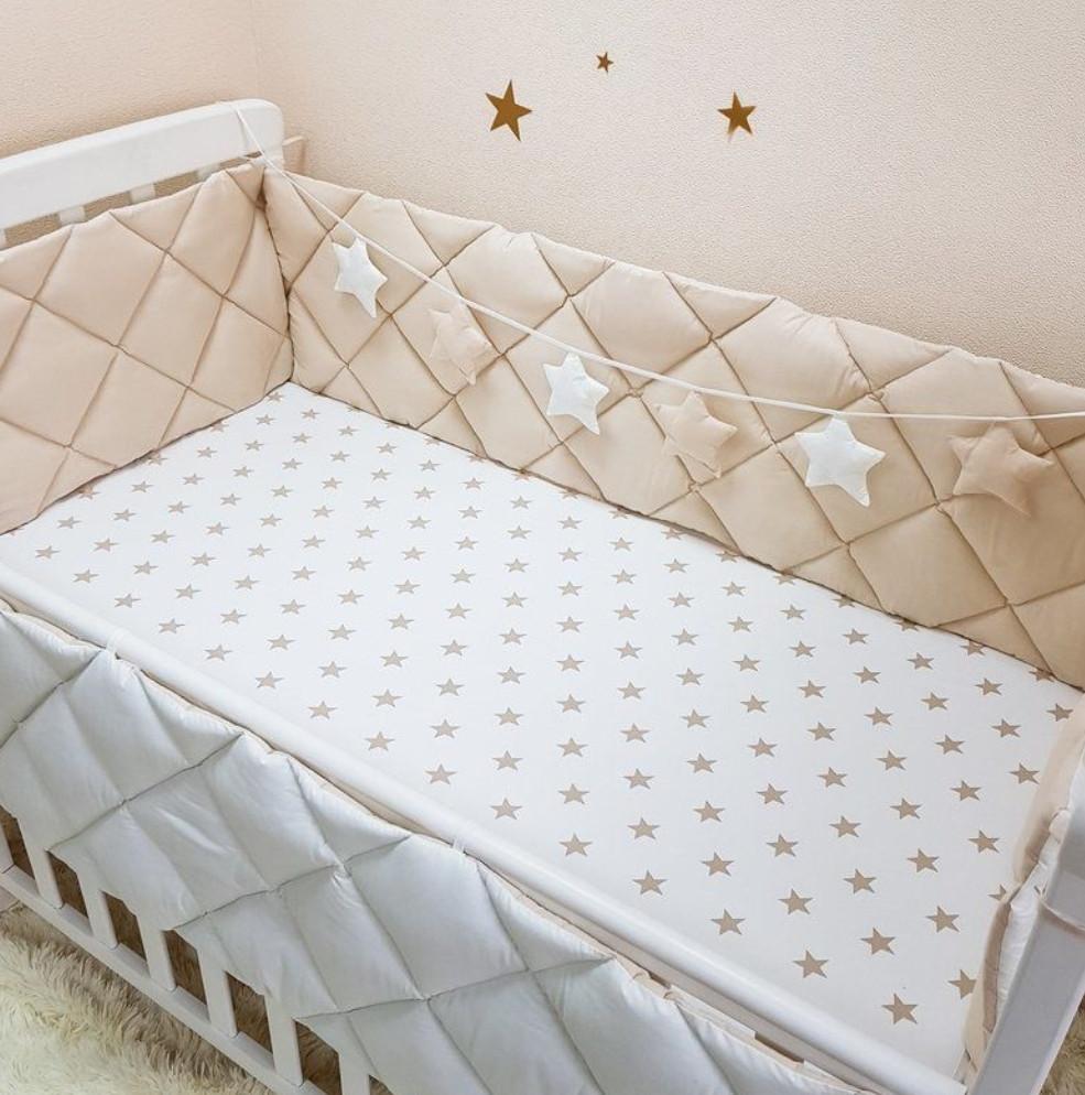 Защита, бортики в кроватку на 4 стороны.