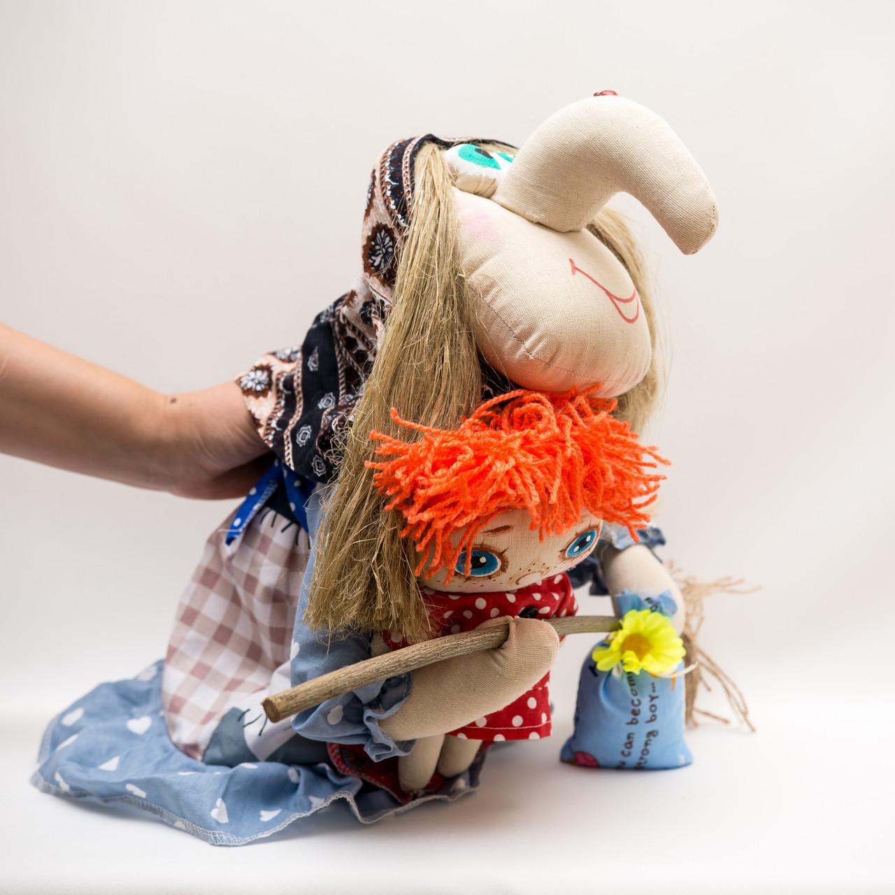 Текстильная Баба-Яга с Кузей