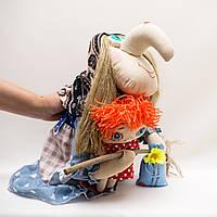 Текстильная Баба-Яга с Кузей, фото 1