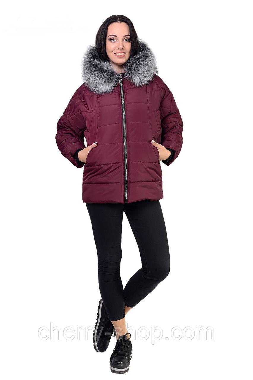 Молодежная куртка с искусственным мехом