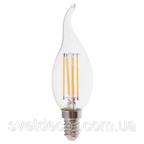 Светодиодная лампа Filament Feron LB-159 6W E14 свеча на ветру