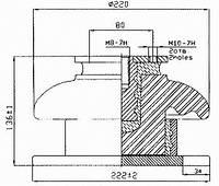 Изоляторы фарфоровые опорные армированные ИО-А1, Изолятор ИО-А1,