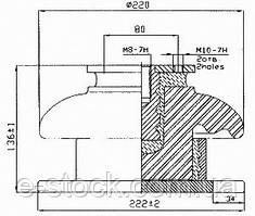 Опорні ізолятори фарфорові армовані ІО-А1, Ізолятор ІО-А1,
