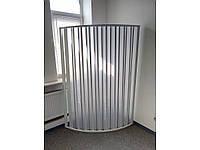 Ширма для душа угловая полукруглая 90х90х185. Двери гармошка в душ.Пластиковые ширмы для ванны.